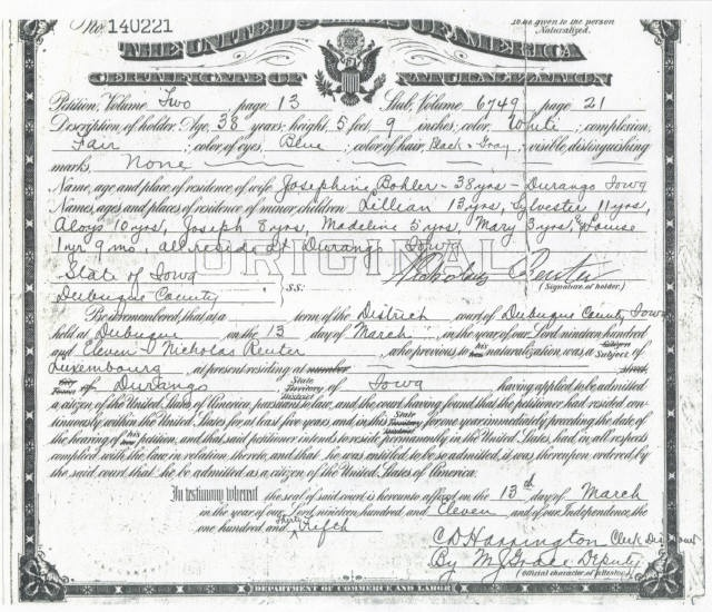 Naturalization Papers Translations